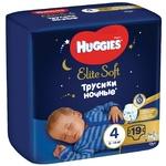 Подгузники-трусики Huggies Elite Soft Overnights Pants 4 ночные 9-14кг 19шт