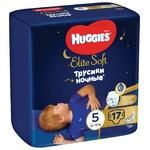 Подгузники-трусики Huggies Elite Soft Overnights Pants 5 ночные 12-17кг 17шт
