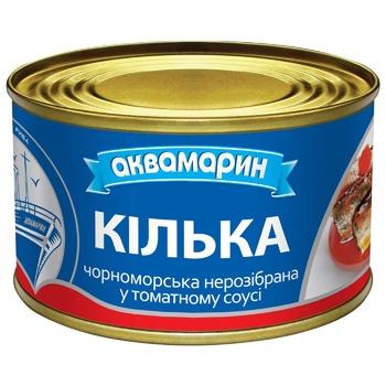Килька Аквамарин обжаренная в томатном соусе 230г - купить, цены на Novus - фото 1