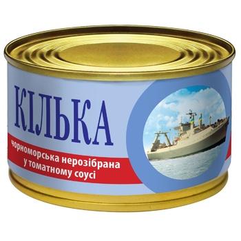 Килька IRF черноморская в томатном соусе 230г - купить, цены на МегаМаркет - фото 1