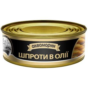 Akvamaryn In Oil Sprats 230g - buy, prices for Pchelka - photo 1