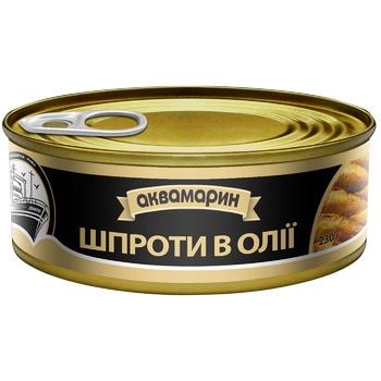 Akvamaryn In Oil Sprats 230g - buy, prices for Pchelka - photo 2