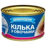 Akvamaryn with vegetables in tomato sauce fish sprat 230g