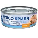Meat Morska kollektsia krill canned 100g can Ukraine