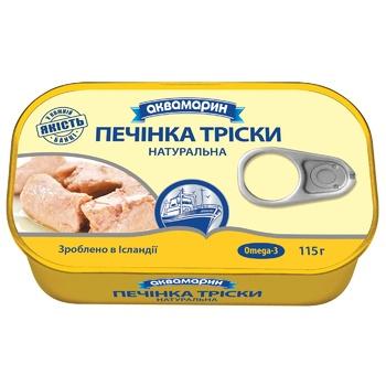Печень трески Аквамарин 115г