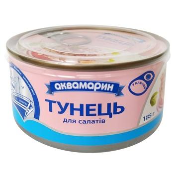 Тунець Аквамарин для салатів у власному соку 185г - купити, ціни на Ашан - фото 1