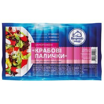 Vodniy Mir Frozen Crabsticks 220g - buy, prices for CityMarket - photo 1