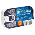 Печень трески Novus натуральная 121г