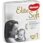 Підгузки-трусики Huggies Elite Soft Platinum розмір 1 для дітей до 5кг 90шт