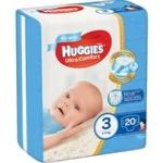 Подгузники Huggies Ultra Comfort для мальчиков 3 5-9кг 20шт