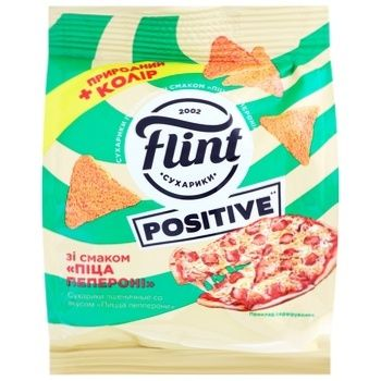 Flint Wheat Rusk with Pepperoni Pizza Flavor 90g - buy, prices for CityMarket - photo 1