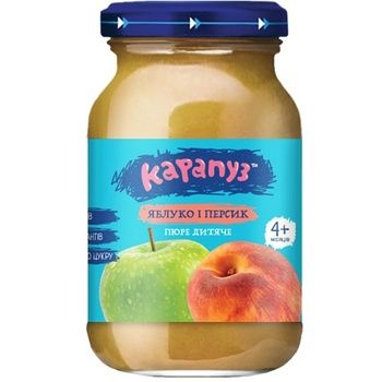 Пюре Карапуз яблуко і персик 170г