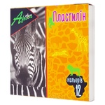 Плаcтилін Economix Africa 12 кольорів 240г