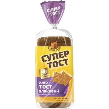Хліб Київхліб Супер Тост темний нарізаний 350г - купити, ціни на Метро - фото 2