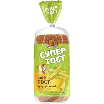 Kyivkhlib Sliced corn toast bread 350g - buy, prices for Auchan - photo 1