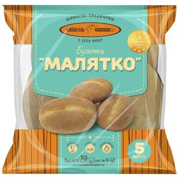 Булочки КиевХлеб Малятко 5шт, 250г - купить, цены на ЕКО Маркет - фото 1