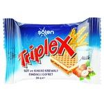 Triplex Waffles with Hazelnut Milk and Cocoa Cream 20g