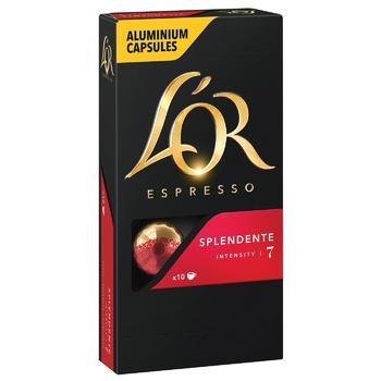 L`OR Espresso Splendente Ground Coffee in Capsules 10pcs 52g - buy, prices for CityMarket - photo 1