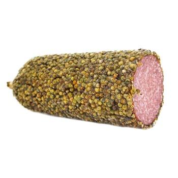 Salami Rqw-dried Sausage in Green Pepper