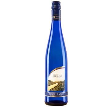 Вино Moselland Riesling белое полусладкое 8,5% 0,75л