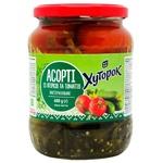 Асорті овочеве Хуторок №2 огірки та томати 720мл 680г