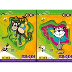Zibi Cardboard colored A4 10 colors 10 sheets