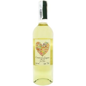 Вино Corazon de Longares Macabeo біле напівсолодке 13% 0,75л
