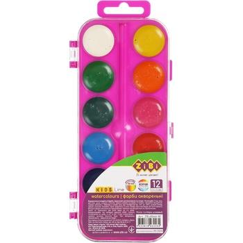Фарби ZiBi акварельні 12 кольорів