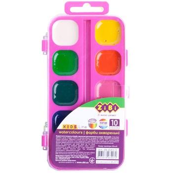 Фарби ZiBi акварельні 10 кольорів