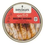 Конс Сардина Diplomats 160 г підкоп. в олив. олії з каєнським перцем