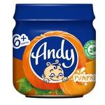 Puree Andy pumpkin for children from 6 months 80g glass jar