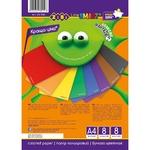 Бумага ZiBi цветной А4 8 листов 8 цветов