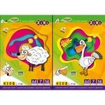 ZiBi Colored Cardboard A4 14 Sheets 7 Colors