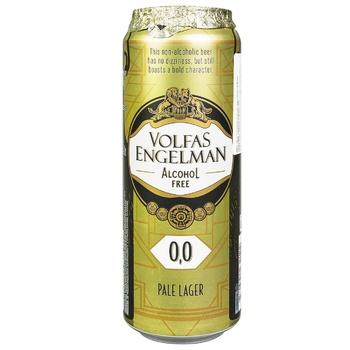 Пиво Volfas Engelman Lager 568мл б/а