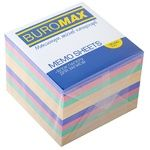 Buromax Block of Paper for Notes Assorted 90x90mm
