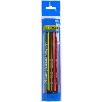 Buromax Neon Line Graphite Pencil HB 4pcs