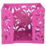 Бокс для паперів Buromax Barocco 80х100х100мм рожевий