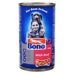 Food Bono with beef for dogs 1250g can Poland