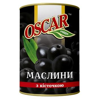 Oscar Black Olives with Stone 300g