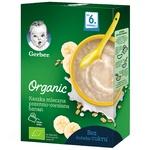 Каша молочная Gerber Organic Пшенично-овсяная с бананом 240г
