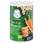 Снек Gerber Organic пшенично-овсяный с морковью и апельсинами 35г