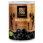 Ellada Black Olives with Stone 420g