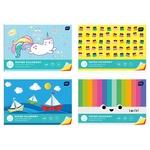 Набор цветного одностороннего картона А4 10 цветов в ассортименте