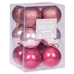 Набір куль новорічних 12 шт./ 6 см CAN204760 И153 (КІН)