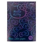 Папір кольоровий неон Hello Kitty, 10 аркушів, 5 кольорів, A4