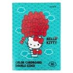 Картон кольоровий Hello Kitty двосторонній А4 10кольорів 10аркушів