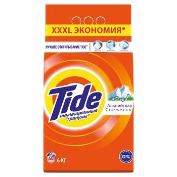Tide Alpine Fresh Automat Laundry Powder Detergent 6kg - buy, prices for CityMarket - photo 1