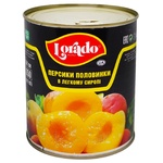 Персик Lorado половинки в легком сиропе 850г