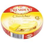 Сир плавлений President з ароматом Чеддеру 35% 140г