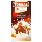 Chocolate milky Torras with hazelnuts sugar free 75g Spain